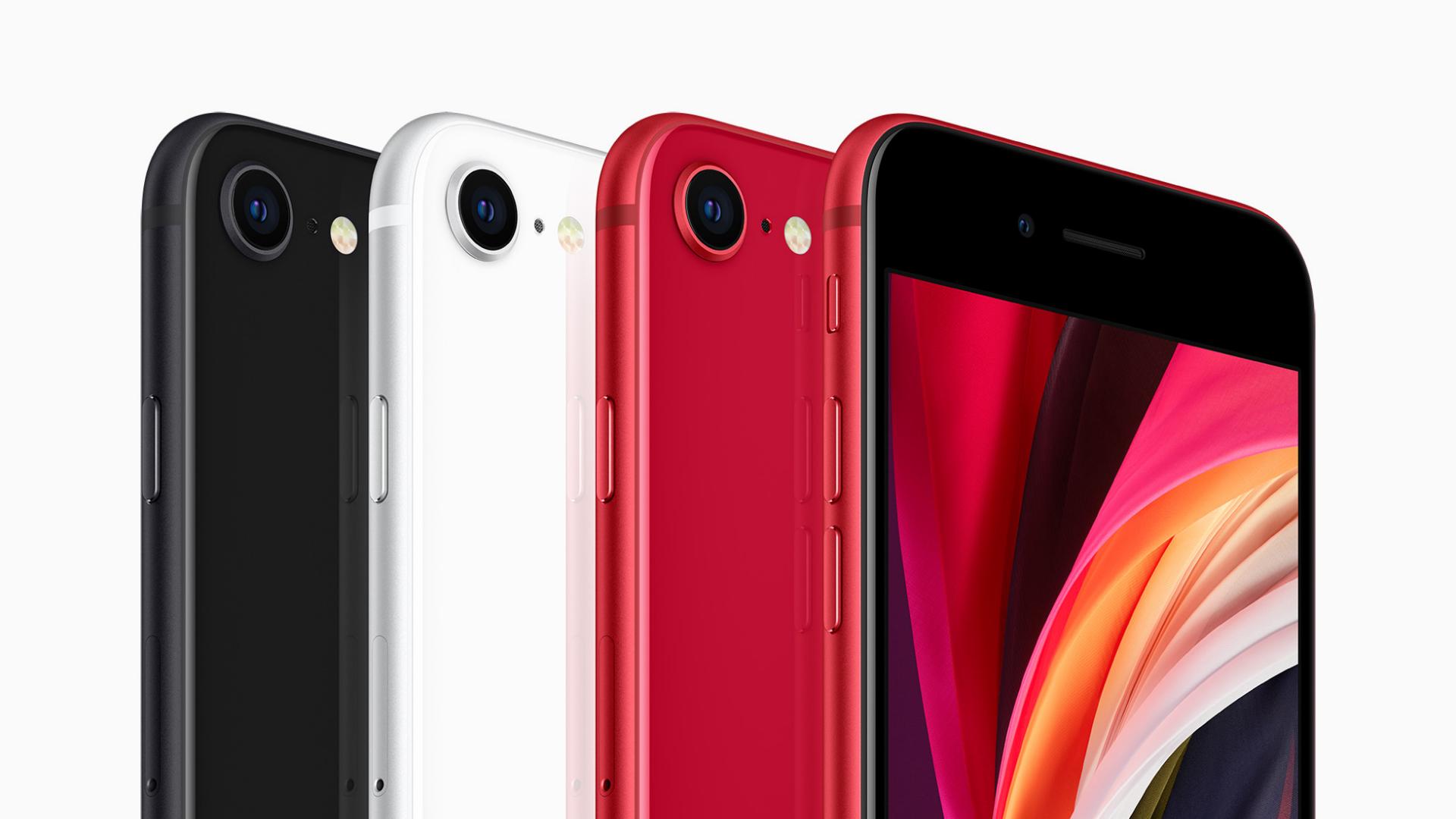 新しいiPhone SE (第2世代)は3色展開(黒、白、赤)
