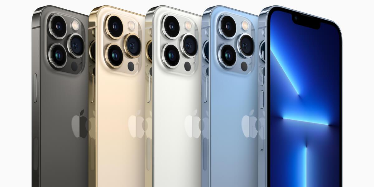 iPhone 13 Pro と iPhone 13 Pro Maxのカラーバリエーション